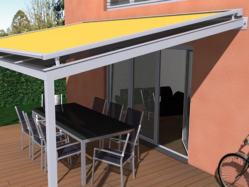 Toldo para terraza interesting toldo de brazo extensible for Toldos laterales para terrazas